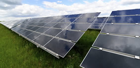 Solar panel array - ground mounted